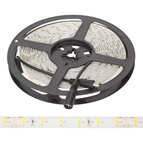 Tira LED 300 LEDs 70W SMD5630 24VDC IP65 x 5M   Blanco Frío (GR-RDT5630-60-24-IP65-CW)