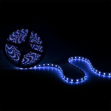 Tira LED 300 X RGB SMD5050 12VDC IP65 Pcb Negro x 5M | RGB (CA-5050-300-IP65-B-RGB)
