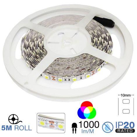 Tira LED 5m 5050 12V 50W 300L IP20 RGB