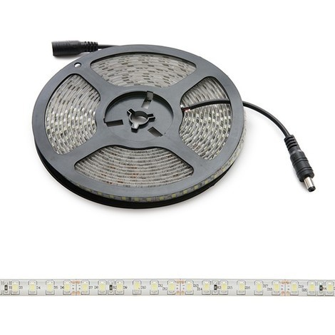 Tira LED 600 X SMD2835 24VDC IP65 x 5M | Blanco Cálido (GR-RDT2835-120-24-IP65-CW)