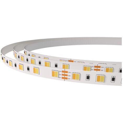 Tira led CCT 24V 14,4W/m IP20 ligth stripe bicolor
