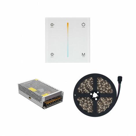 Tira LED CCT con Mecanismo Regulador Táctil y Alimentación Seleccionable (Cálido-Neutro-Frío) - Seleccionable (Cálido-Neutro-Frío)