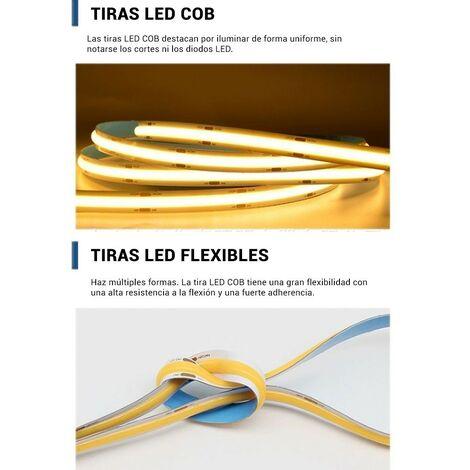 Tira LED COB 24V-DC 12W/m IP20 10mm - Rollo de 5 o 10 METROS
