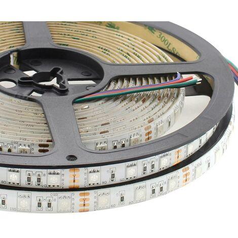Tira LED EPISTAR SMD5050, RGB, DC12V, 5m (60Led/m) - IP65, RGB