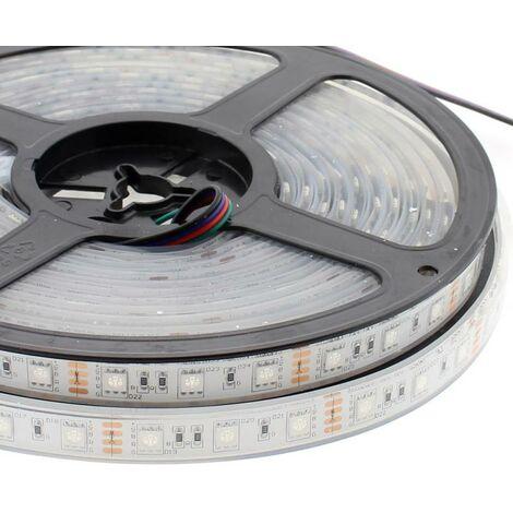 Tira LED EPISTAR SMD5050, RGB, DC12V, 5m (60Led/m) - IP68, RGB