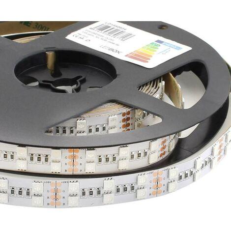 Tira LED EPISTAR SMD5050, RGB, DC24V, 5m (120 Led/m 2 filas) - IP20, RGB