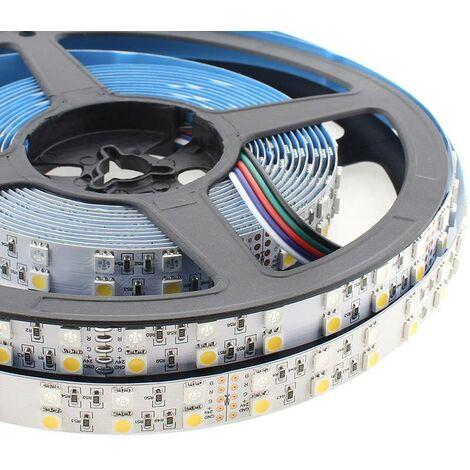 Tira LED EPISTAR SMD5050, RGB+NW, DC24V, 5m (120Led/m) - IP20, RGB + Blanco neutro