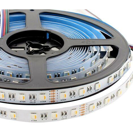 Tira LED EPISTAR SMD5050, RGB+W, DC24V, 5m (60Led/m 4 en 1) - IP20