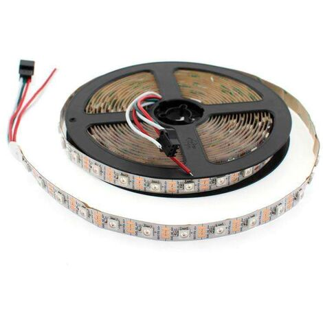 Tira LED IC Digital 2812, RGBX, DC5V, 5m, (60 Led/m) IP67, RGB - RGB