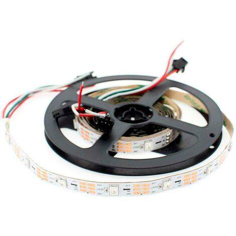 Tira LED IC Digital 2812B, RGBX, DC5V, 5m, (30 Led/m) IP67, RGB
