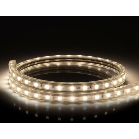 Tira LED Regulable 220V AC 60 LED/m Blanco Neutro IP65 a Medida Corte a los 100cm
