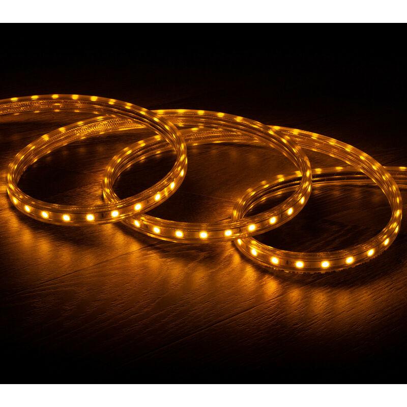Tira LED Regulable 220V AC 60 LED/m Amarillo IP65 a Medida Corte cada 100cm 19m - 19m
