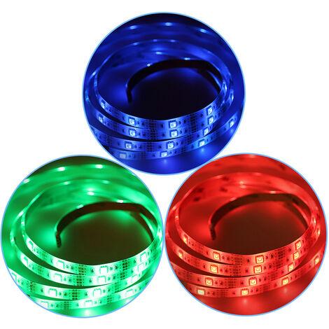 Tira LED RGB 5M Cinta que cambia de color Regulable 300 led SMD 5050 + 44 TECLAS + ADAPTADOR