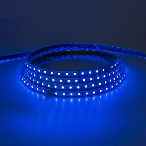 Tira led smd 5050 220v ip65 rgb 60 chips 9w/m