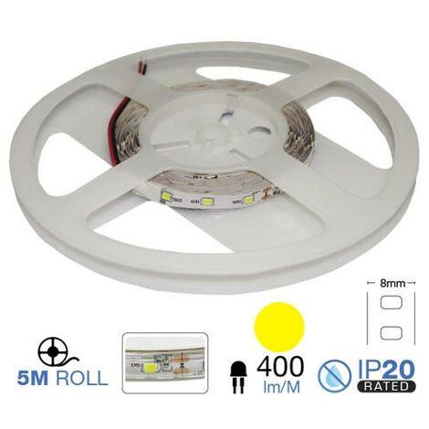 Tira led SMD3528 amarillo 3.6W/m 12V 60 leds/m IP20 5 metros