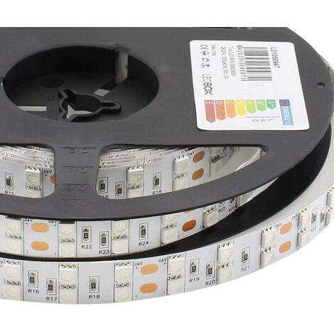 Tira LED UV Ultravioleta SMD5050, DC24V, 5m (120 Led/m) - IP20, Luz ultravioleta