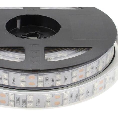Tira LED UV Ultravioleta SMD5050, DC24V, 5m (120 Led/m) - IP67, Luz ultravioleta