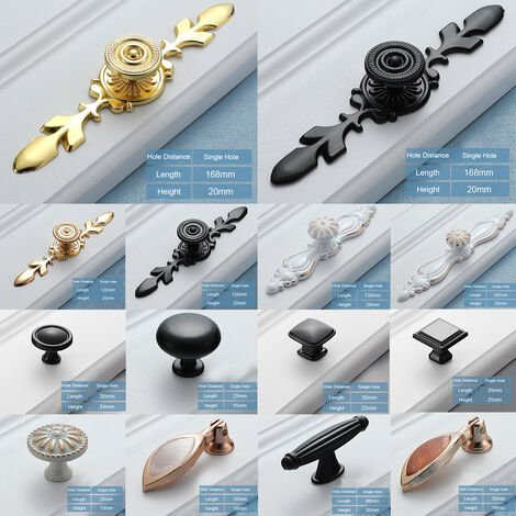 Tiradores de aleacion de aluminio, tiradores de cajones para armarios y armarios