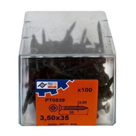 Tirafondo Pladur Negro C/100 - NEOFERR - 48568-PT0539 - 3,5X35 MM