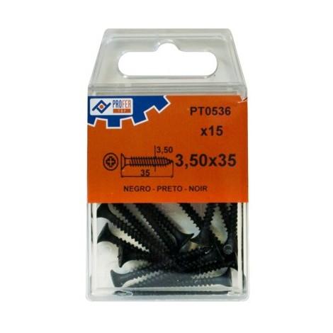 Tirafondo Pladur Negro C/15 - NEOFERR - 48565-PT0536 - 3,5X35 MM