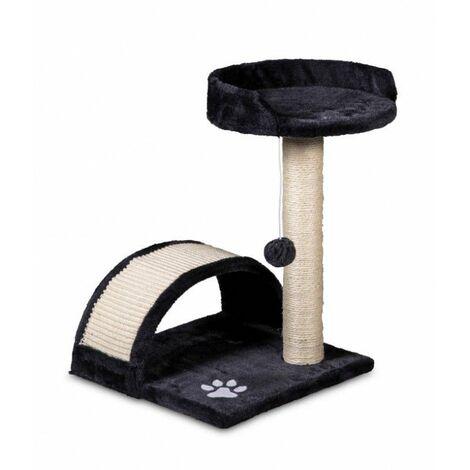 Tiragraffi con cuccia e parco giochi grigio 50 cm