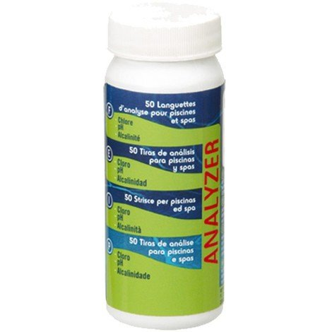 Tiras de análisis cloro pH alcalinidad GRE 40068 40068