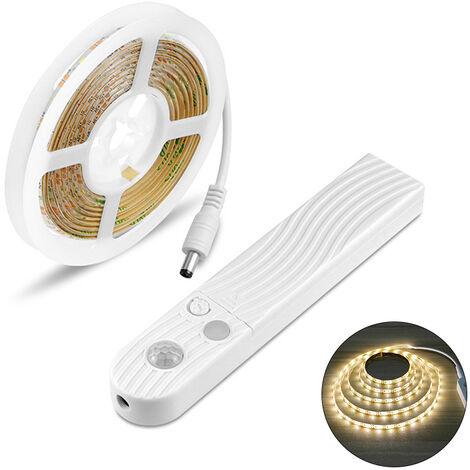 Tiras de luces LED, con sensor PIR, tiras de luces ajustables