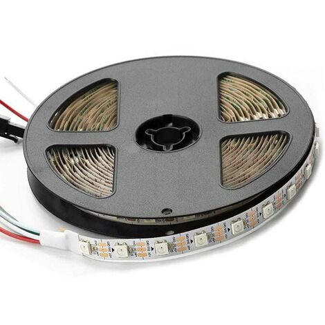 Tiras LED inteligente IC 5V/DC 5 metros IP20 60ch/m