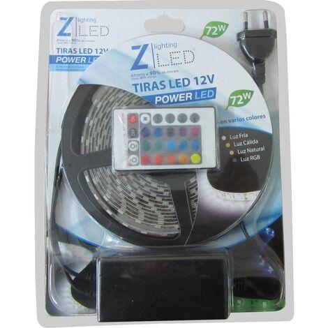 TIRAS LEDS PACK 5 METROS RGB 230V
