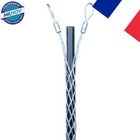 Tire-câble double boucles de 8 à 100 mm acier galvanisé