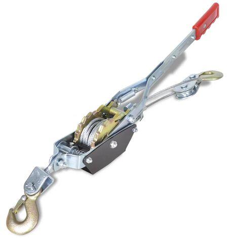 Tire câble manuel 1 000 kg avec 2 roues dentelées