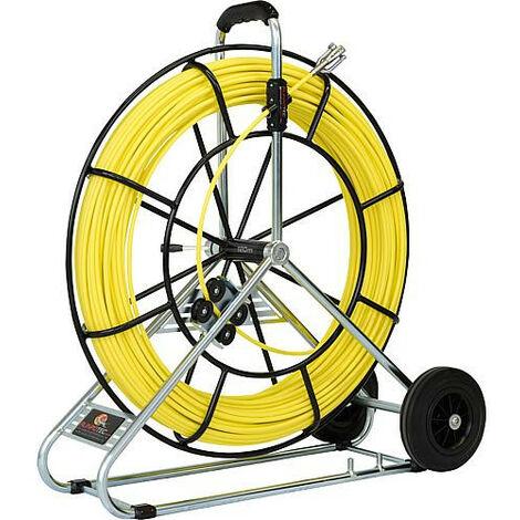 Tire-cable RUNPOTEC tige fibre de verre 120 m, diam. 730 mm