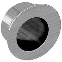 Tire-doigt rond Ø28 mm pour porte coulissante, acier finition satiné