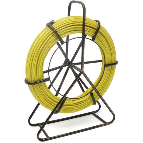 Tire fil 130m 6 mm Aiguille dévidoir en fibre de verre cable Jaune