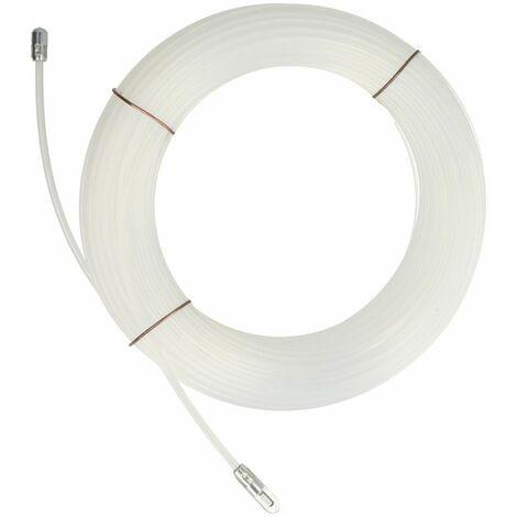 Tire-fil avec anneau et ressort Ø 3 mm nylon 20 m