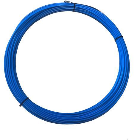 Tire-fils en acier/nylon 4 mm L 30 M sans dévidoir + 2 embouts M5, une tête flexible et un oeillet