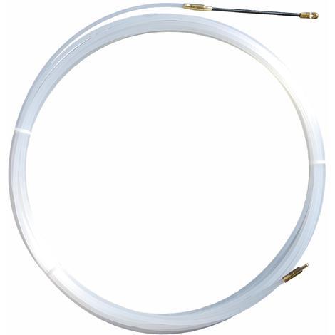Tire-fils en nylon 4 mm L 20 M sans dévidoir + 2 embouts M5, une tête flexible et un oeillet