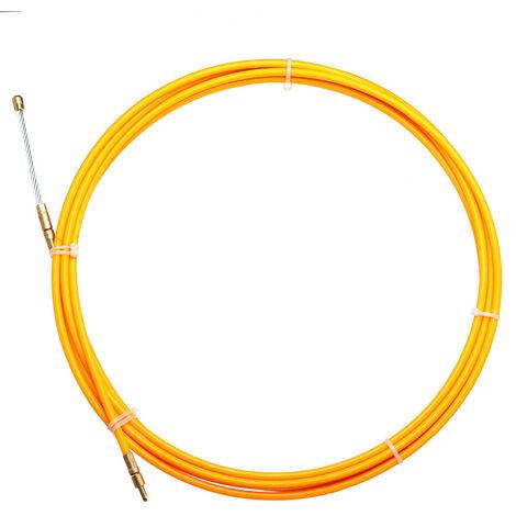 Tire fils nylon D=4mm L=25m fibre de verre fil cable tige électricien poussoir extracteur conduit poisson