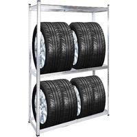 Tire Storage Rack 8 Tires Modular Shelf Workshop Garage Warehouse Racking Unit