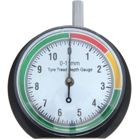 Tire Tread Depth Gauge - Depth Measuring Tool - 0-11mm / 0-0.43inch - Dial Diameter 44mm (1.7inch) - Pressure Gauge for Car, Truck, Bike, Motorcycle