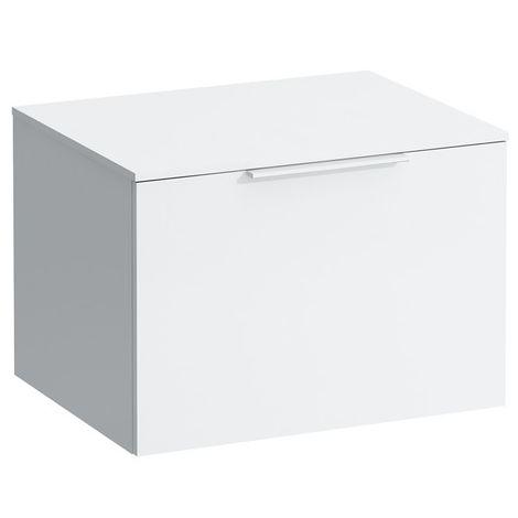 Tiroir coulissant Kartell avec plateau de 12 mm, avec découpe 595x455x415, Coloris: Blanc brillant - H4078010336311