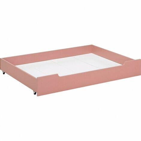 Tiroir de lit rose avec roulettes - MINOT 8081 - Rose