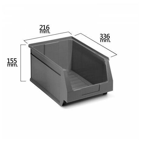 Tiroir empilable stockage gris nº54 336x216x155 mm. (6/6)