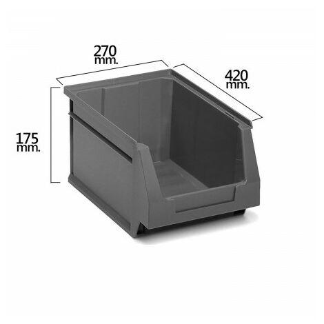 Tiroir empilable stockage gris nº56 420x270x175 mm. (4/6)