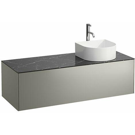Tiroir Sonar courant, 1 tiroir, adapté aux cuvettes de lavabo 812340, 812341, 812342, 812343, découpe à droite pour le lavabo et le robinet, Coloris: Or/ Nero Marquina - H4054270341401