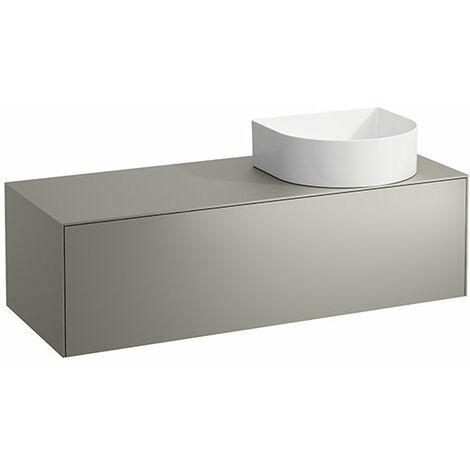 Tiroir Sonar courant, 1 tiroir, adapté aux cuvettes des lavabos 812340, 812341, 812342, 812343, découpe à droite pour le lavabo, Coloris: Or/ Nero Marquina - H4054230341401