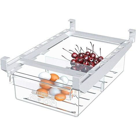Tiroirs de réfrigérateur,bacs de rangement pour réfrigérateur coulissant,boîte de rangement pour réfrigérateur,Boîte carrée de légume de fruit congelé clair de cuisine de récipient de stockage d'oeufs
