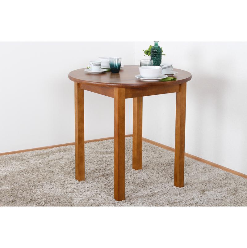 Tisch Kiefer massiv Vollholz Eichefarben 003 (rund) Höhe