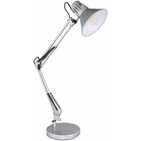 Tisch Lampe silber Wohn Zimmer Klemm Strahler Spot Gelenk Lese Leuchte verstellbar im Set inkl. LED Leuchtmittel