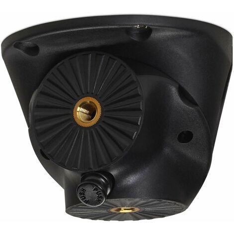 Tischbein-Drehbeschlag CURLY schwarz Ø 115 mm mit Höhe: 85 mm (mit Stapelfuß)